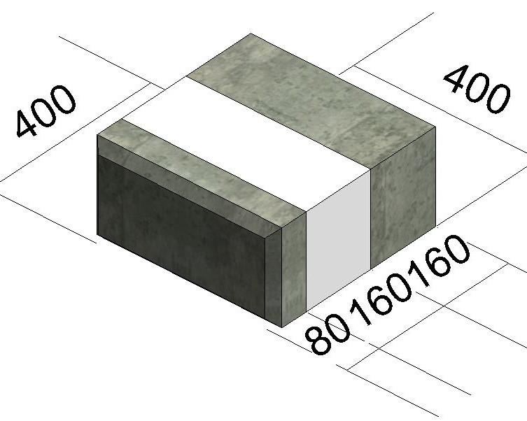 блок рядовой-400мм