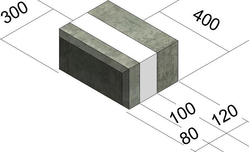 блок рядовой-400мм толщиной 300мм