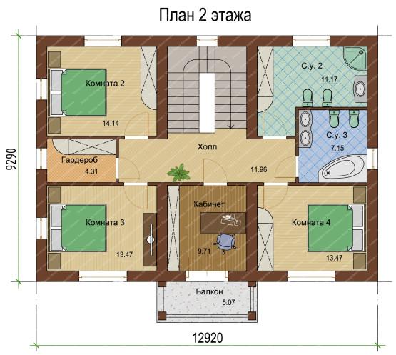 План 2 этажа-1-1